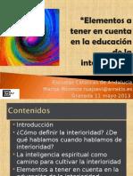 Interioridad - Granada Mayo 13