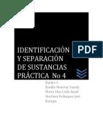 Práctica de Identificación y Separación de Sustancias