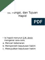 Isi, Fungsi, Dan Tujuan Hapid