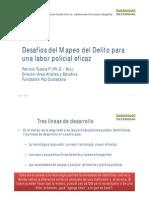 Desafios del Mapeo del Delito para una Labor Policial más eficaz, Patricio Tudela 2012