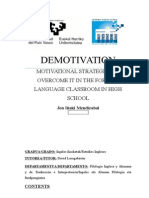 Demotivation in the EFL Classroom