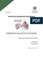 Amplificador para electrocardiografía