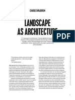 Landscape as Architecture
