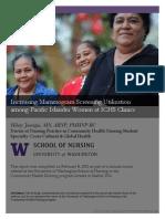 increasing mammogram screening utilization among pacific island women