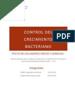 Influencia de Agentes Quimicos y Fisicos en El Crecimiento Bacteriano