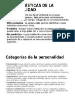 Características de La Personalidad