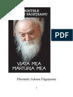 Parintele Adrian Fageteanu, Viata mea, marturia mea