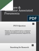oral care & ventilator acquired pneumonia