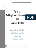 Synergy BIM and Lean Construction