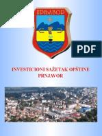 Investicioni sažetak opštine Prnjavor