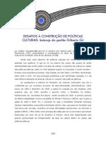 Desafios a Construção de Políticas Publicas Culturais Balanço Da Gestão Gilberto Gil - Lia Calabre