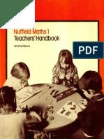 Nuffield Maths Teacher's Handbook 1