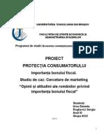 Proiect Protectia consumatorului