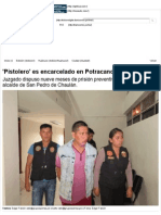 'Pistolero' Es Encarcelado en Potracancha