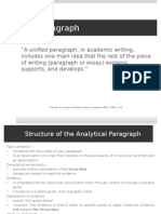 The Paragraph & Reader Response PPT