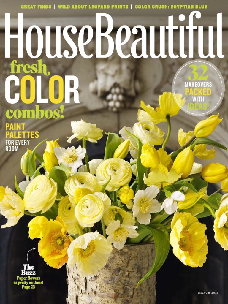 House Beautiful March 2015 Contact Lens Human Eye