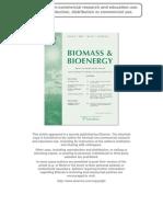 Cuantificación de Residuos Olivos. Biomass and Bioenergy