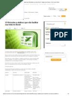 23 Fórmulas e Atalhos Que Vão Facilitar Sua Vida No Excel - Artigos Sobre Internet - UOL Cursos Online