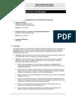 Instructivo General de Certificados Especiales