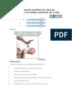 Primeros Auxilios Por Ahogamiento de Bebe