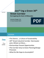 Envision (TM) ing a Green 30th St. Corridor