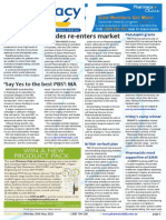 Pharmacy Daily for Mon 25 May 2015 - Strides re-enters market, Say Yes to the best PBS