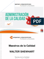 Maestros de la Calidad - Walter Shewart