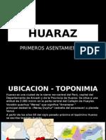 Huaraz asentamientos