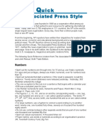 Associated Press (AP) Style Guide - the basics