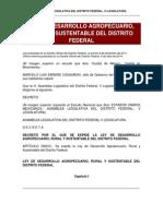 Ley de Desarrollo Agropecuario Rural y Sustentable Del Df