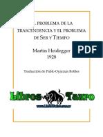 Heidegger, Martin - El Problema de La Trascendencia Y El Prob de Ser Y Tiempo