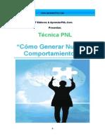 TecnicaPNL-Cómo Generar Nuevos Comportamientos-AprenderPNL