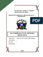 El Curriculum y Metodos Didácticos