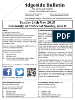 2015-05-24 -Solemnity of Pentecost Sunday B