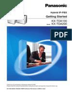 Manual Inicial para KX-TDA200 de Panasonic