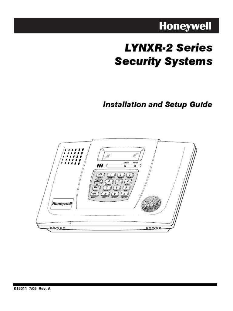 lynxr 2 install guide electrical connector security alarm rh scribd com honeywell lynxr-2 programming guide Honeywell Alarm Panel
