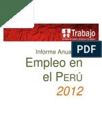 Informe Anual Empleo Enaho 2012