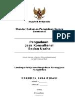 Sbd E-seleksi Jasa Konsultansi Badan Usaha Prakualifikasi
