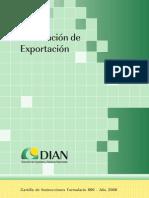 Cartilla Dec Exportacion