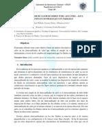 INFORME de TRANSFERENCIA de CALOR I Intercambiador de Calor de Doble Tubo Agua Fria Agua Caliente