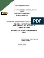 2da Tarea Inv. Explicativa, Relacional y Correlacional