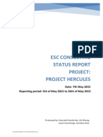 Example Project Status Report IT Management ESC