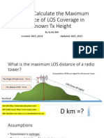 To Calculate the Maximum LOS Coverage