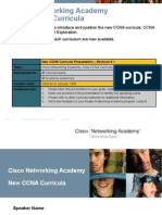 New CCNA Curricula