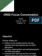 inq iii orid focus group