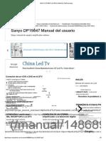 SANYO DP15647 USUARIO MANUAL Pdf Descargar.pdf