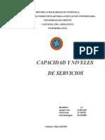 Capacidad y Niveles de Servicios Trabado UDO