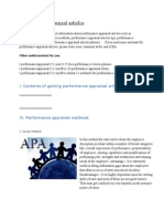 Performance Appraisal Articles