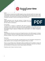Toggl Manual