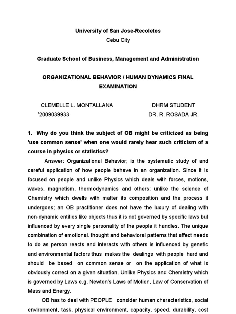 Perception and attitudes of workers towards compliance with a systematic method of operation admission essay help